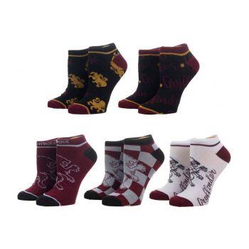 Harry Potter pack 5 paires de chaussettes femme Gryffindor