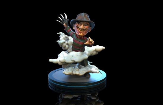 Nightmare On Elm Street figurine Q-Fig Freddy Krueger 10 cm --- EMBALLAGE ENDOMMAGE