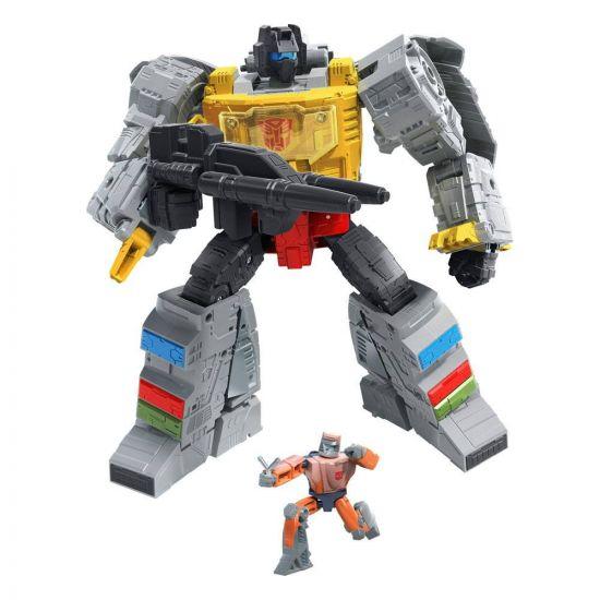 Transformers Studio Series Leader Class 2021 Wave 1 figurine Grimlock & Autobot Wheelie