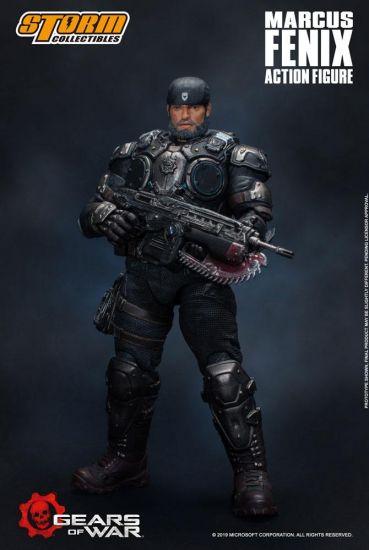 Gears of War 5 figurine 1/12 Marcus Fenix 16 cm --- EMBALLAGE ENDOMMAGE