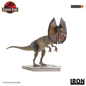 Jurassic Park statuette 1/10 Art Scale Dilophosaurus 18 cm --- EMBALLAGE ENDOMMAGE