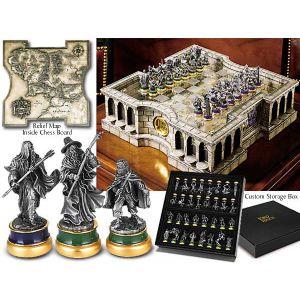 Le Seigneur des Anneaux jeu d´échecs étain de collection