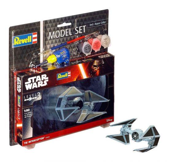 Star Wars maquette 1/90 Model Set TIE Interceptor 10 cm